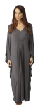 Ladies Soft Touch Long One Size Kaftan in Dark Grey